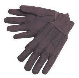 Brown Jersey Cotton Gloves Dozen