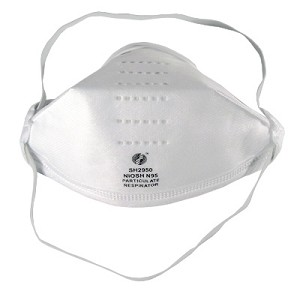 N95 PM2.5 Particulate Respirators Flat Folded Masks 1895F Case of 240