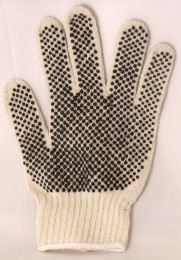StringKnit Gloves w/PVC Dots Both Sides Dozen