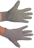PU Coated Gloves Grey on Grey Case of 144 Pairs