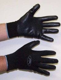 Nitrile Coated Foam Gloves Black on Black Dozen