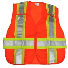 ANSI 207 Public Safety Vest Orange / Lime
