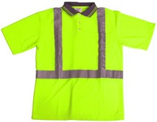 ANSI 107 Class 2 Safety Polo Shirt Lime