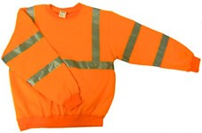ANSI 107 Class 3 Safety Sweatshirt Orange