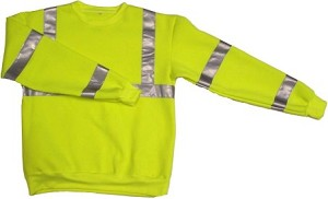 ANSI 107 Class 3 Safety Sweatshirt Lime