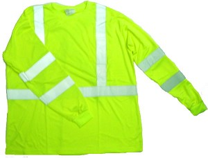 ANSI 107 Class 3 Safety T-Shirt Lime - X Back