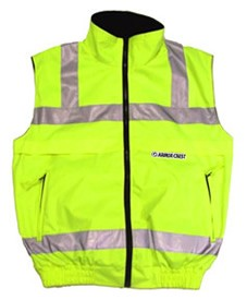 ANSI 107 Class 2 Body Warmer Vest Jacket Lime