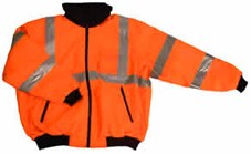 ANSI 107 Class 3 Safety Bomber Jacket Orange