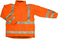 ANSI 107 Class 3 Safety 3-in-1 Parka Jacket Orange