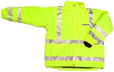 ANSI 107 Class 3 Safety 3-in-1 Parka Jacket Lime - X Back