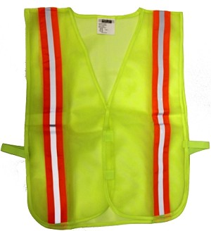 ANSI 107 Class 1 Safety Vest Lime - Two Tone