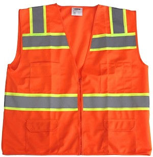 ANSI 107 Class 2 Surveyor Safety Vest Orange