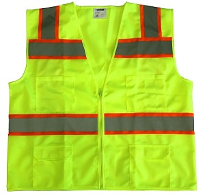 ANSI 107 Class 2 Surveyor Safety Vest Lime