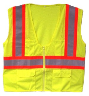 ANSI 107 28265 Class 2 Safety Vest Lime - Two Tone Case of 36