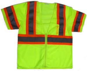 ANSI 107 Class 3 Safety Vest Lime - Two Tone