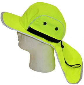 Hi Viz Safety Shade Hat Lime