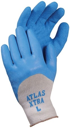 ATLAS Fit® Xtra® Blue Latex Dipped Gloves Pair
