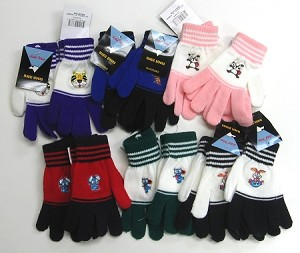 Magic Gloves wAssorted Characters 1 Dozen Pairs