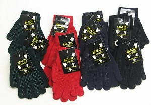 Magic Gloves w/PVC Dots Assorted 1 Dozen Pairs