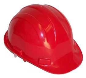 Hardhat Safety Helmet Pinlock Red