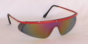 Mercury Safety Glasses Red Mirror Lenses