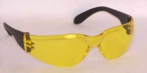 Chirons Safety Glasses Amber Yellow Lenses