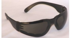 Chirons Wraparound Safety Glasses Padded Grey Lenses