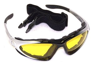 Chameleos II Convertible Safety Glasses Amber Yellow Lenses