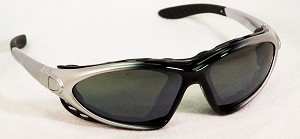 Chameleos II Convertible Safety Glasses Silver Mirror Lenses