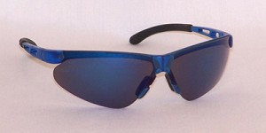 Janus Safety Glasses Blue Mirror Lenses