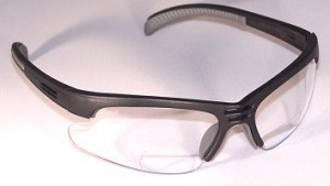 Hydras Safety Reading Glasses Bifocals Clear +1.5