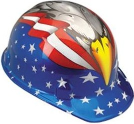 Jackson Head Turner Hardhat Safety Helmet American Eagle Design