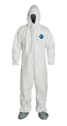 DUPONT TYVEK Coveralls Hood and Boots TY122S 1 PIECE