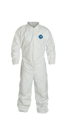 DUPONT TYVEK Coveralls Elastic Wrists and Ankles TY125S Case of 25