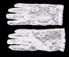 Ladies White Lace Formal Gloves